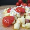Gnocchetti di ceci con pomodorini e pancetta
